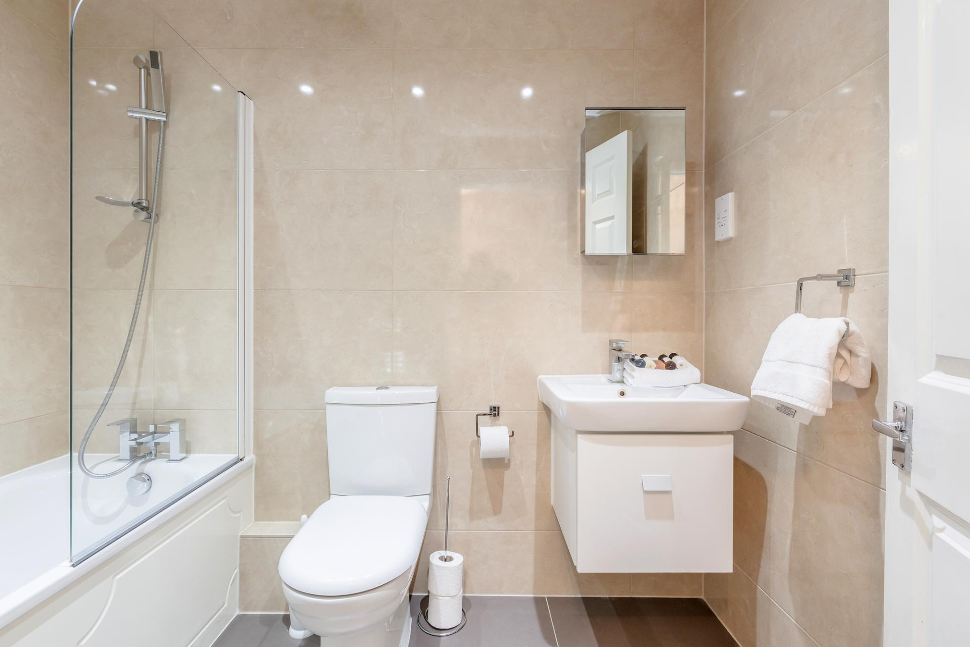Bathroom at Regents Court, Kingston upon Thames, London