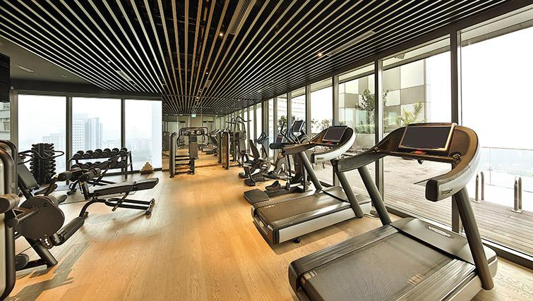 Gym at Pan Pacific Serviced Suites Beach Road, Singapore