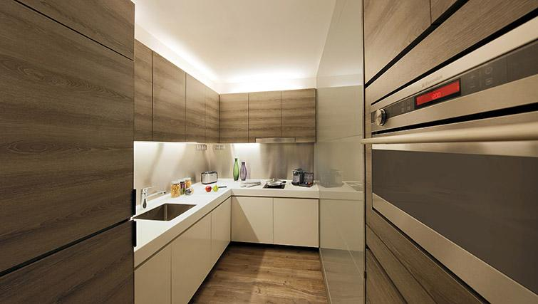 Kitchen at Pan Pacific Serviced Suites Beach Road, Singapore
