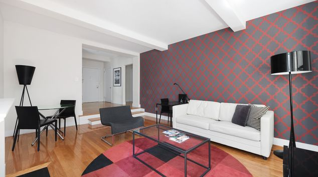 Living room at 400 East 57th Street Apartments
