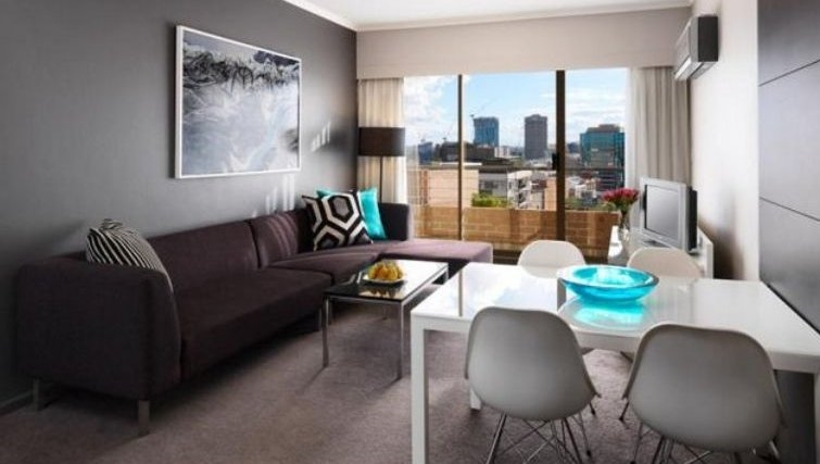 Delightful living area in Adina Apartment Hotel Sydney, Surry Hills