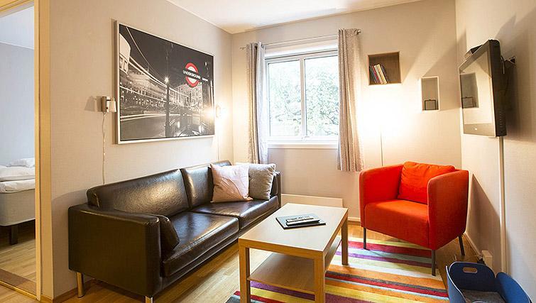 Living area at Lagardsveien Apartments