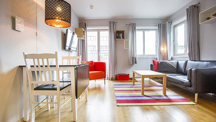 Living space at Lagardsveien Apartments