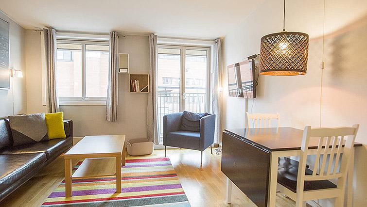 Living room at Lagardsveien Apartments