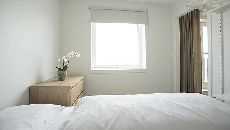 Double bedroom at Kirkebakken Apartments