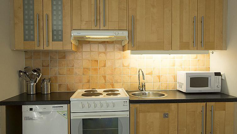 Kitchen at Kirkebakken Apartments