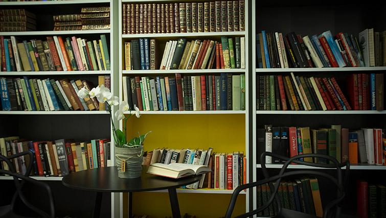 Living space at Kirkebakken Apartments