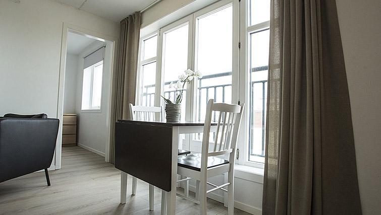 Dining space at Kirkebakken Apartments
