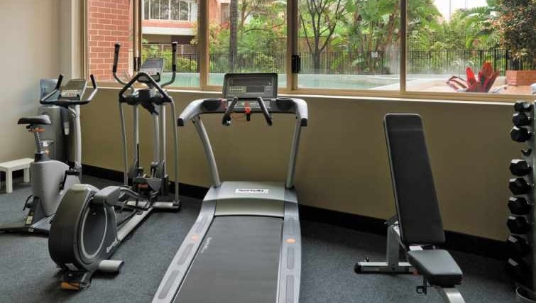 Well equipped gym at Medina Serviced Apartments North Ryde