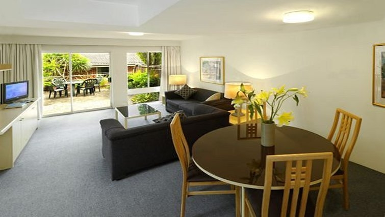 Compact dining area at Medina Serviced Apartments North Ryde
