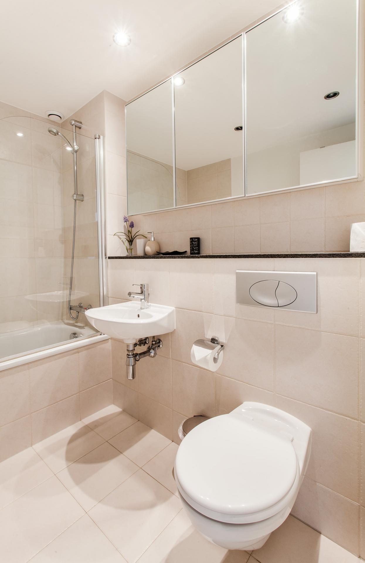 Bathroom at Grand Canal Square Apartment, Centre, Dublin