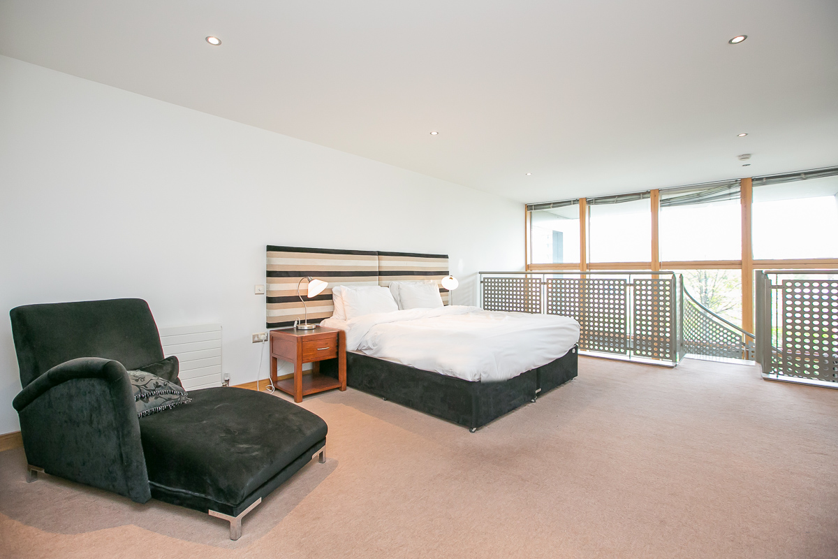 Spacious bedroom at North Spencer Dock Apartments, Centre, Dublin