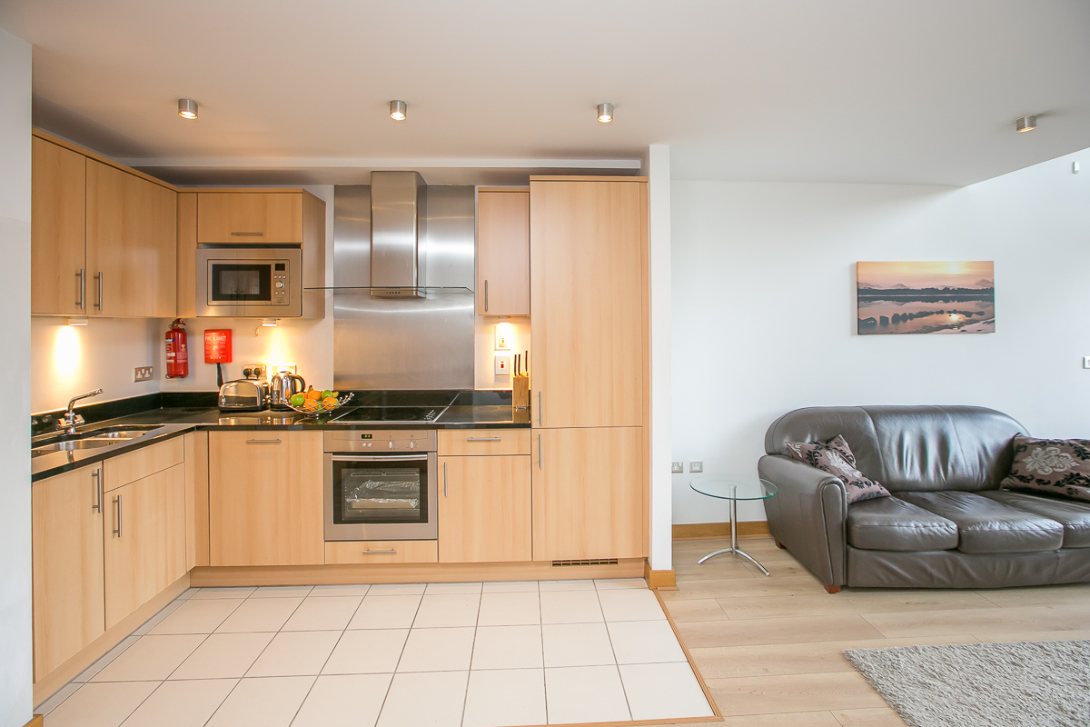 Kitchen at North Spencer Dock Apartments, Centre, Dublin