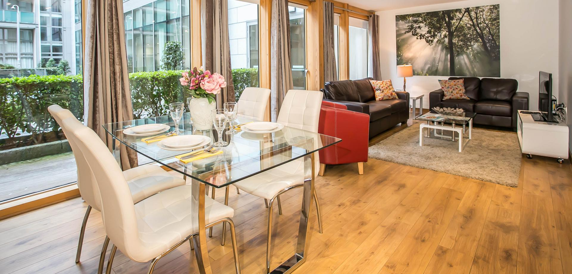 Dining area at North Spencer Dock Apartments, Centre, Dublin
