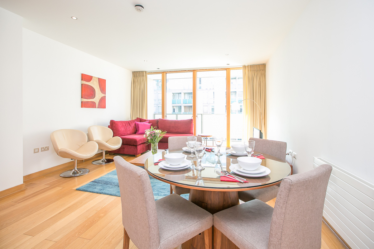 Dining table at North Spencer Dock Apartments, Centre, Dublin