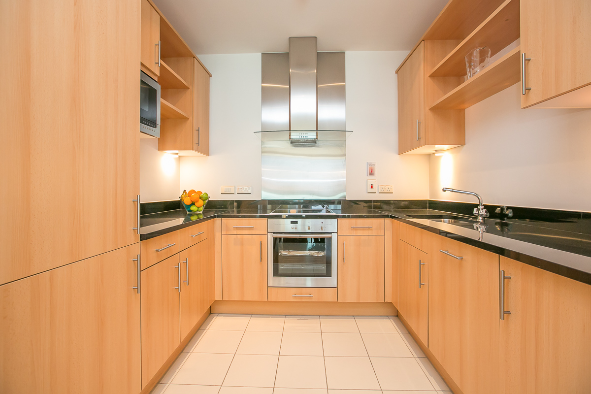 Modern kitchen at North Spencer Dock Apartments, Centre, Dublin