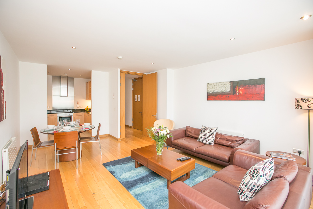 Living area at North Spencer Dock Apartments, Centre, Dublin