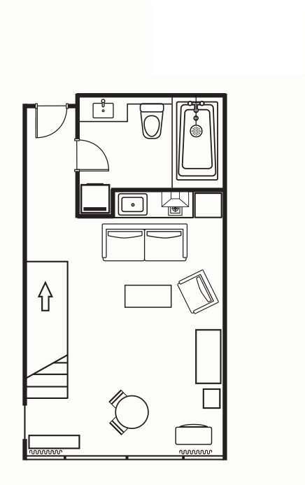 Floorplan 1 at Somerset on the Pier Apartments