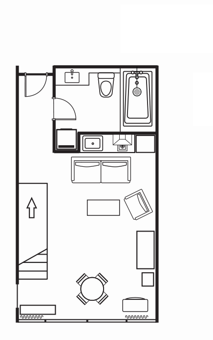 Floorplan 5 at Somerset on the Pier Apartments