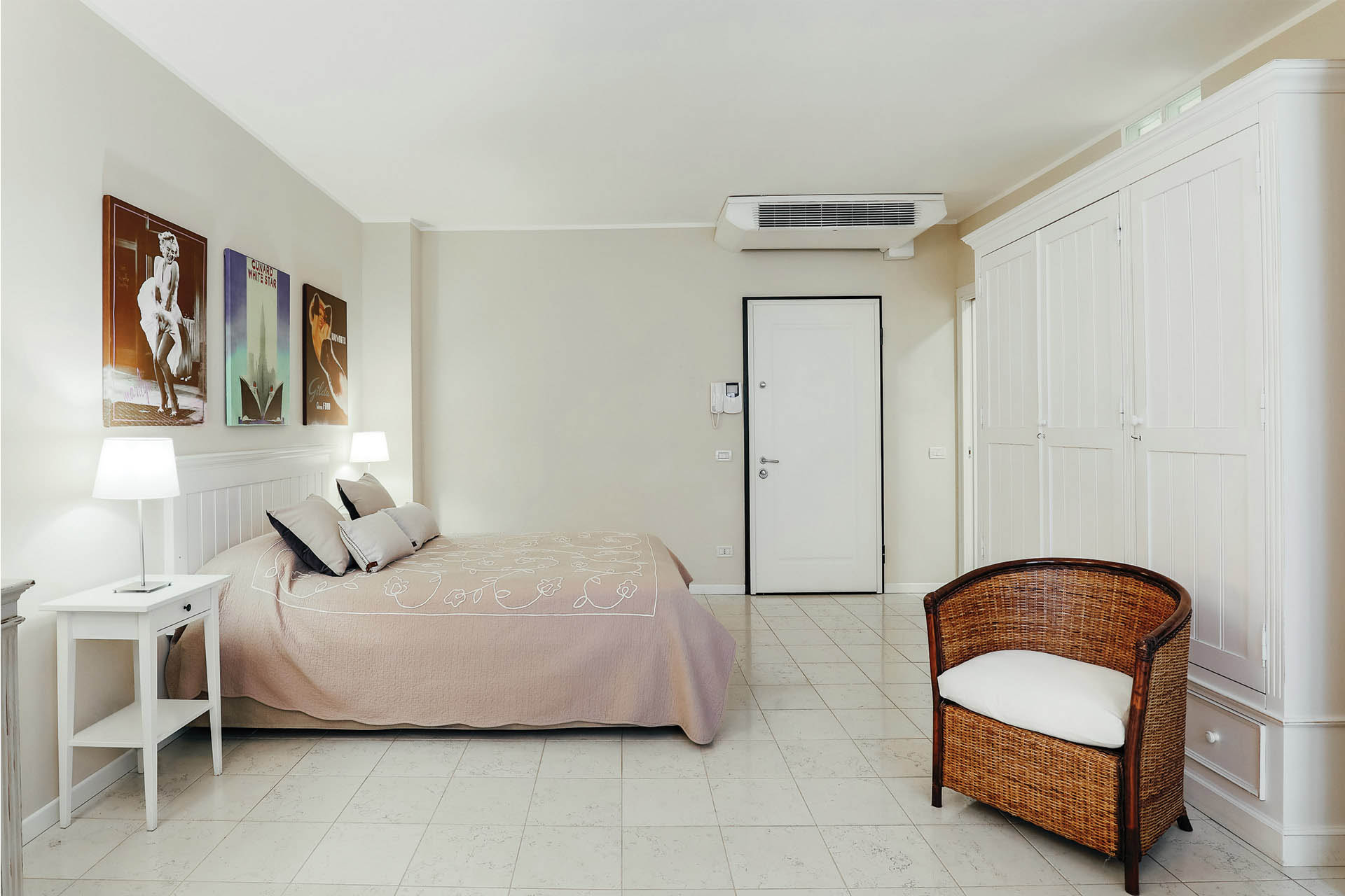 Spacious bedroom at Residence Adriano