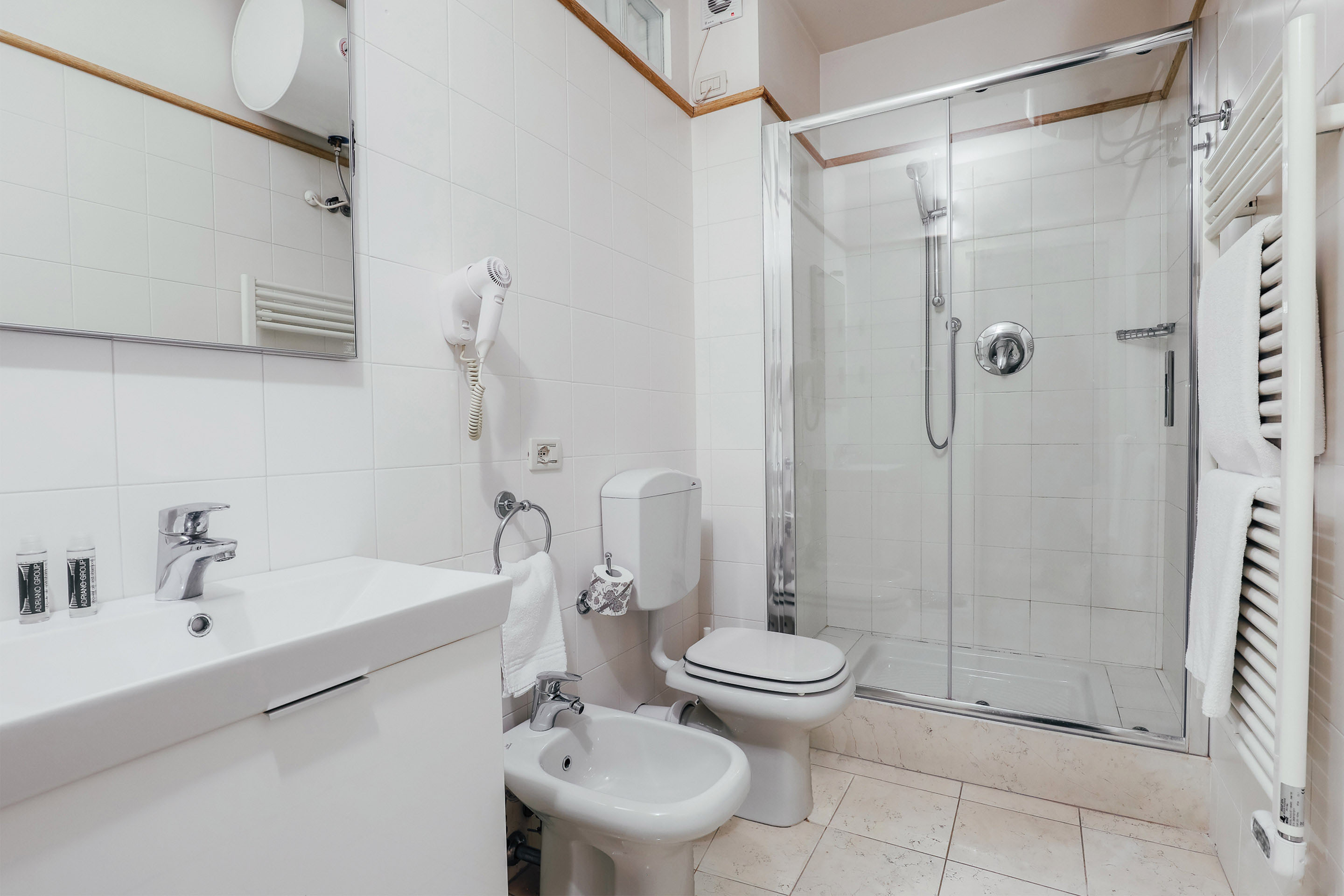 Shower at Residence Adriano