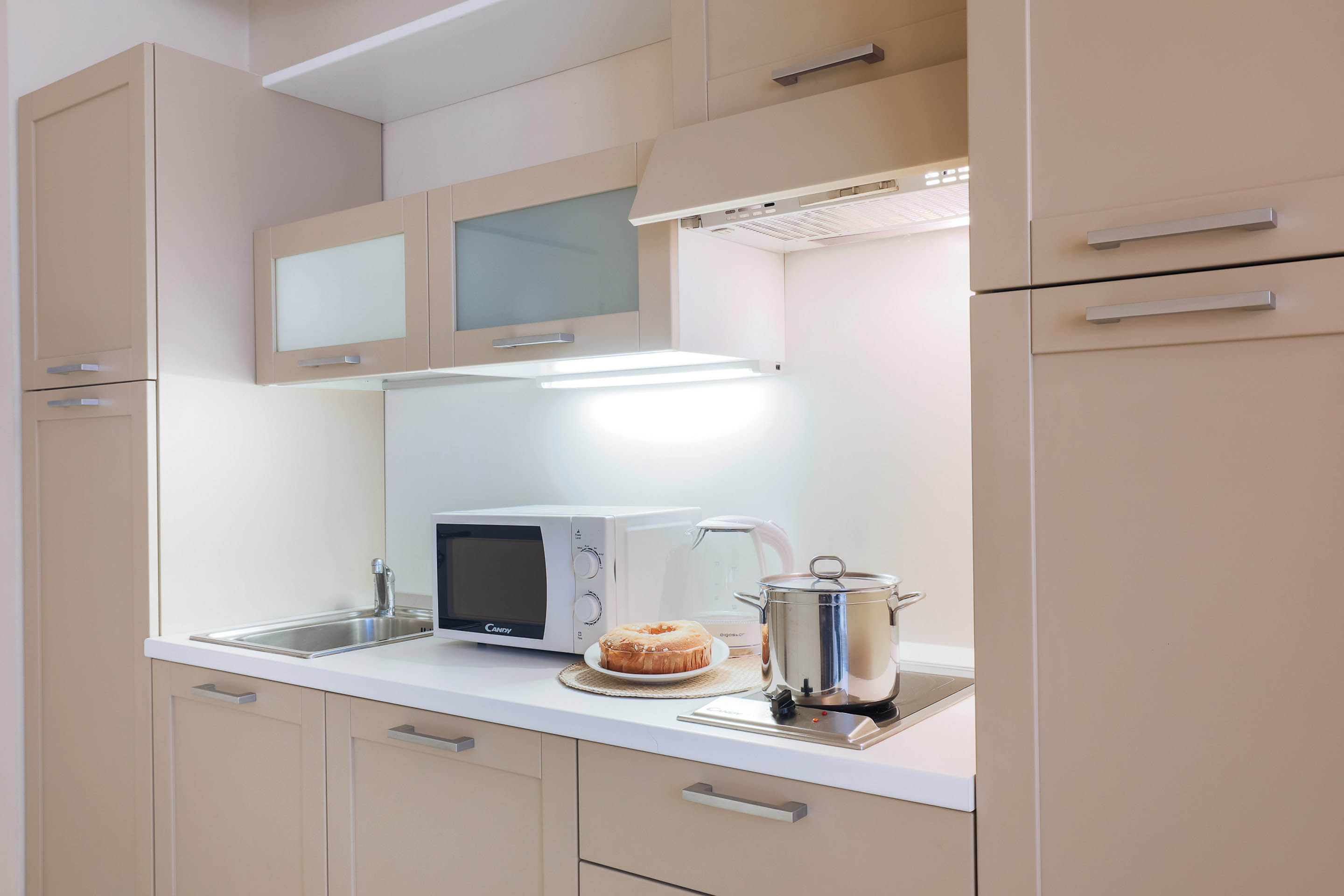 Kitchen facilities at Residence Adriano