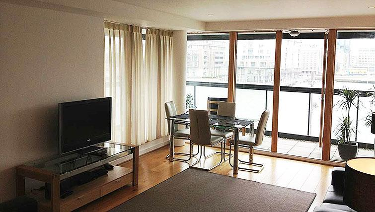 Spacious living area at Hanover Dock Apartment