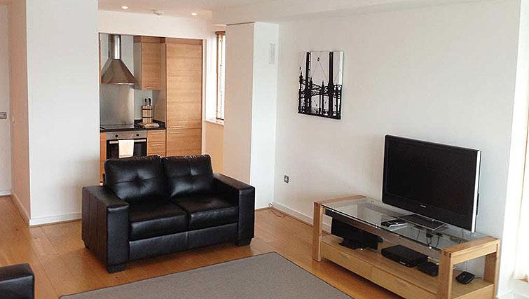 Living area in Hanover Dock Apartment