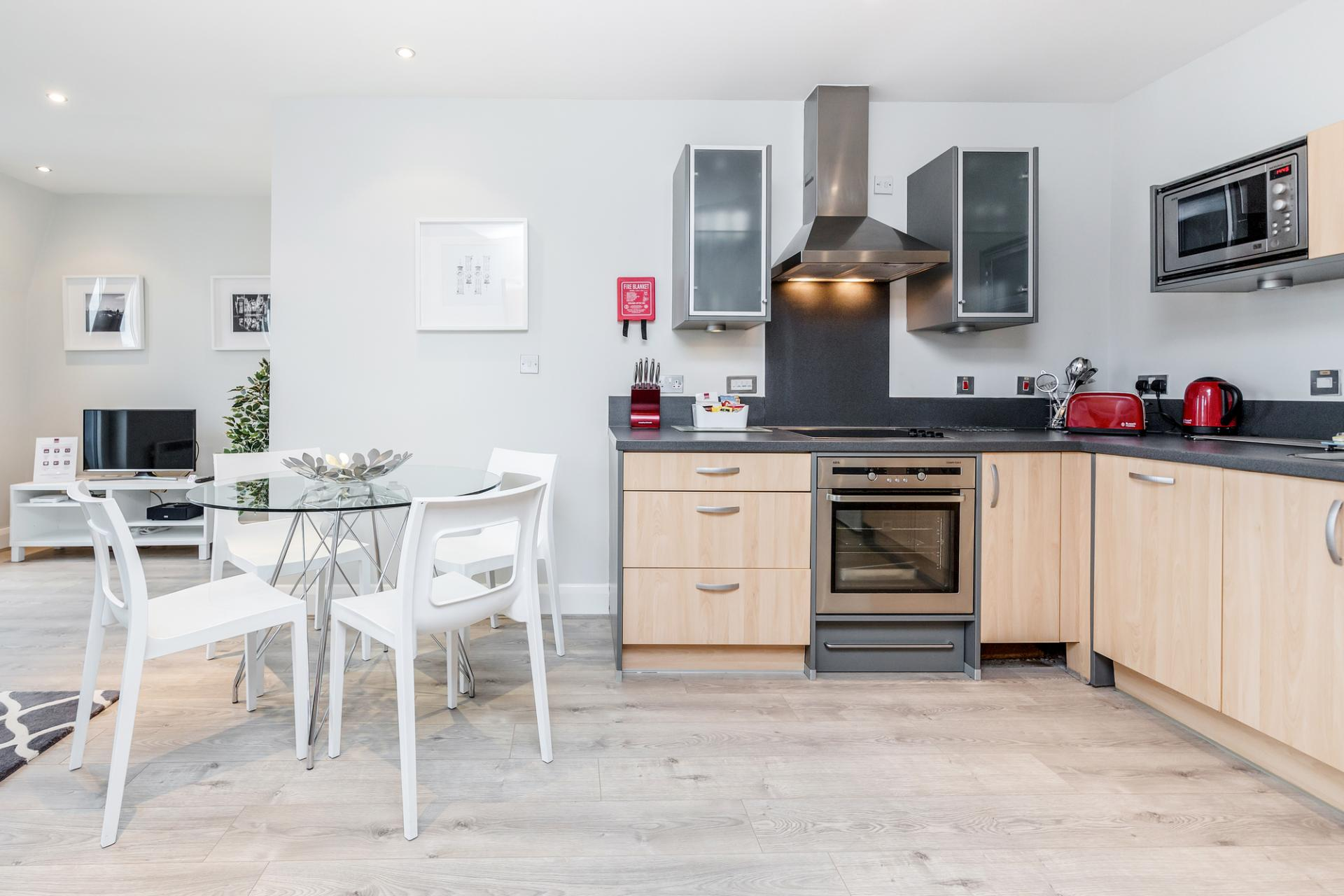 Kitchen at Thames Edge Apartments, Centre, Staines