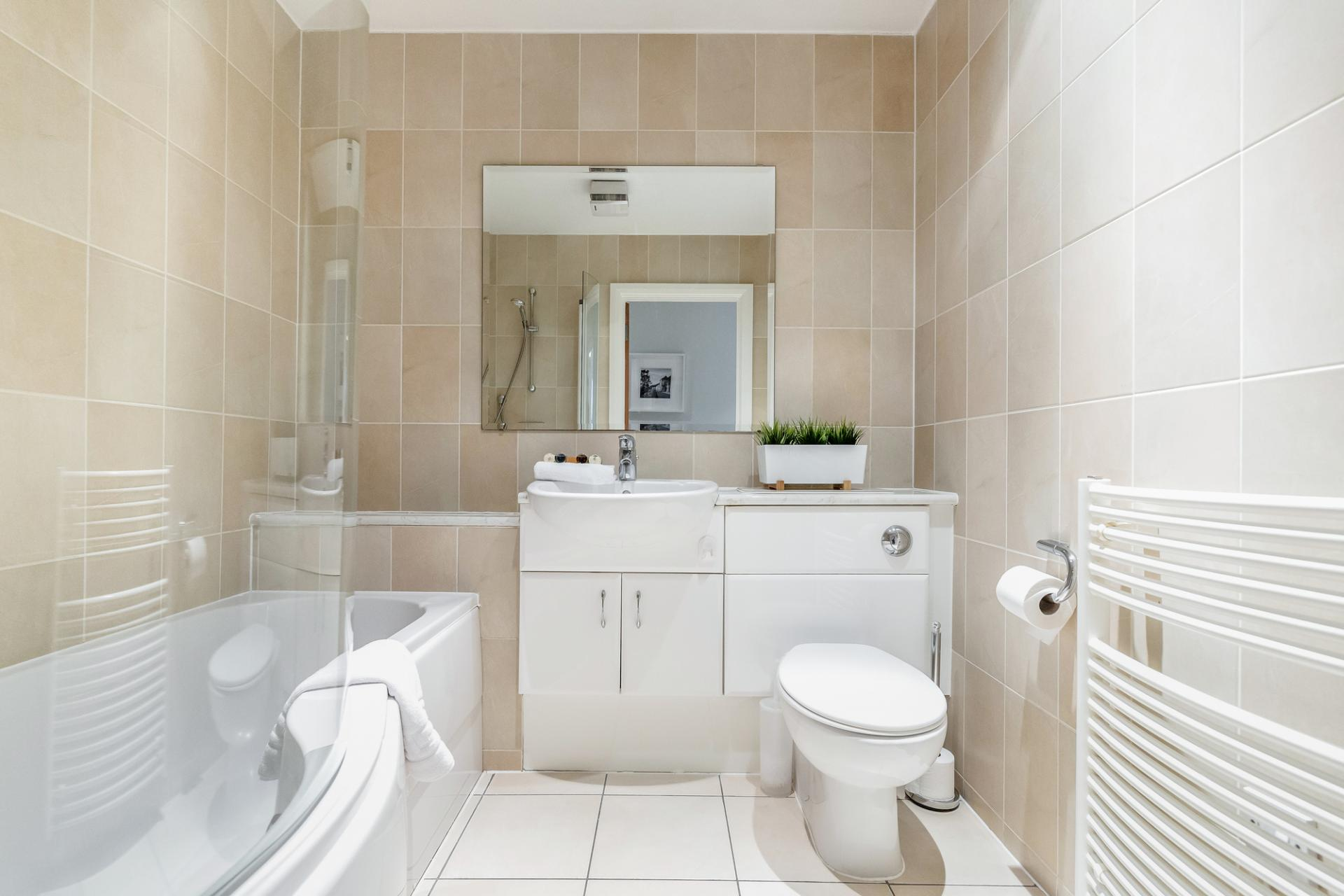 Bathroom at Thames Edge Apartments, Centre, Staines