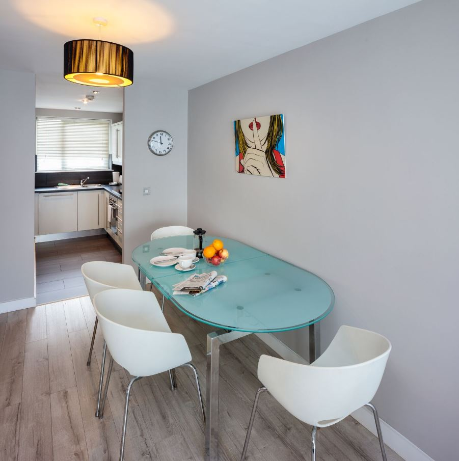 Dining table at Fitzwilliam Point Apartments