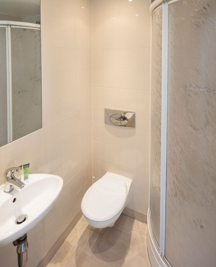 Shower at Fitzwilliam Point Apartments