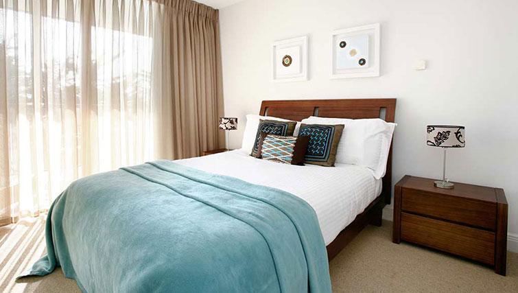 Simple bedroom in Spencer Dock Apartments