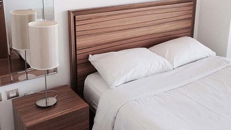 Bedroom in Spencer Dock Apartments
