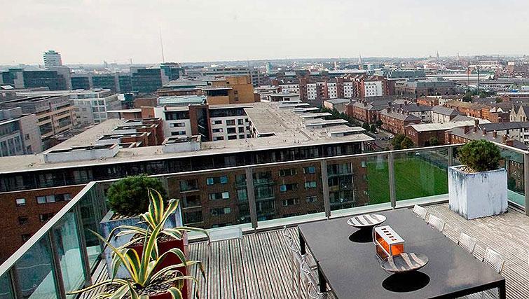 Balcony at Spencer Dock Apartments