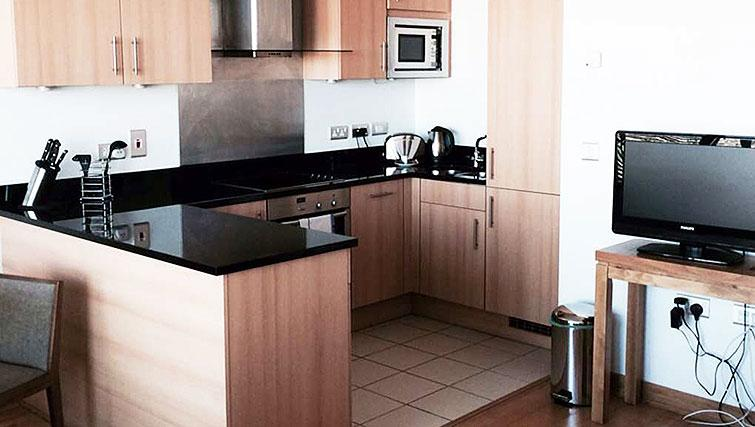 Kitchen in Spencer Dock Apartments