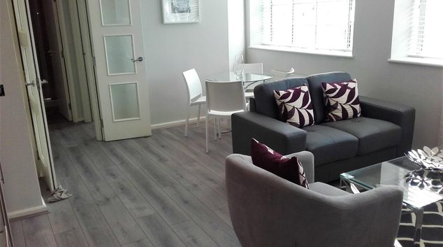 Living room at Princes House Apartments