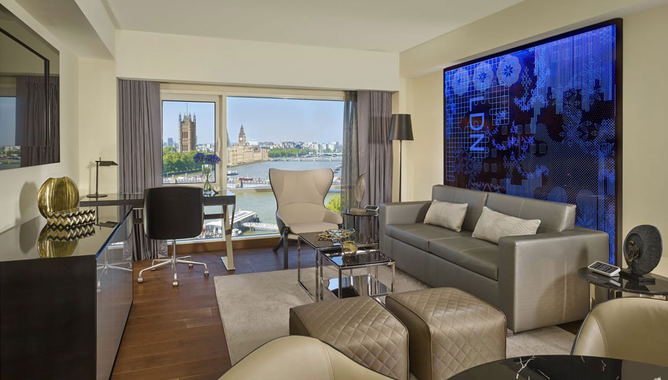 Living room at Plaza on the River