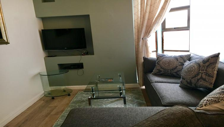 Living room in Mutual Heights Apartments