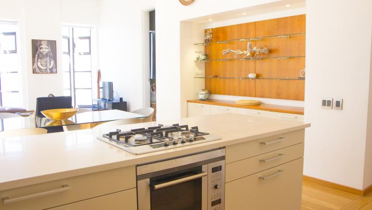 Kitchen area in Mutual Heights Apartments