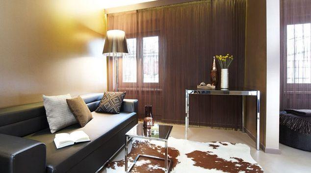 Living area at Cramerstrasse Apartments, Werd, Zurich