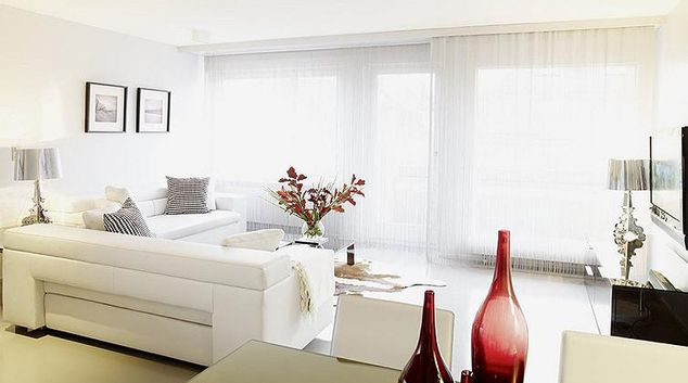 Immaculate living area in Binzmuhle Apartments