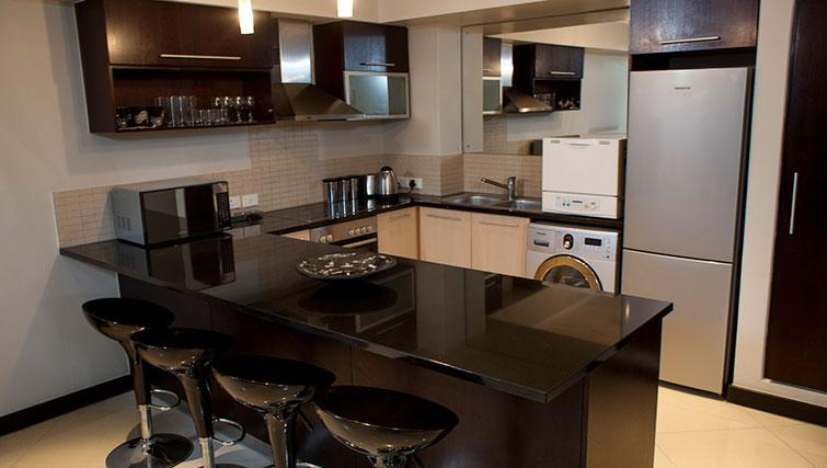 Contemporary kitchen in Icon Apartments