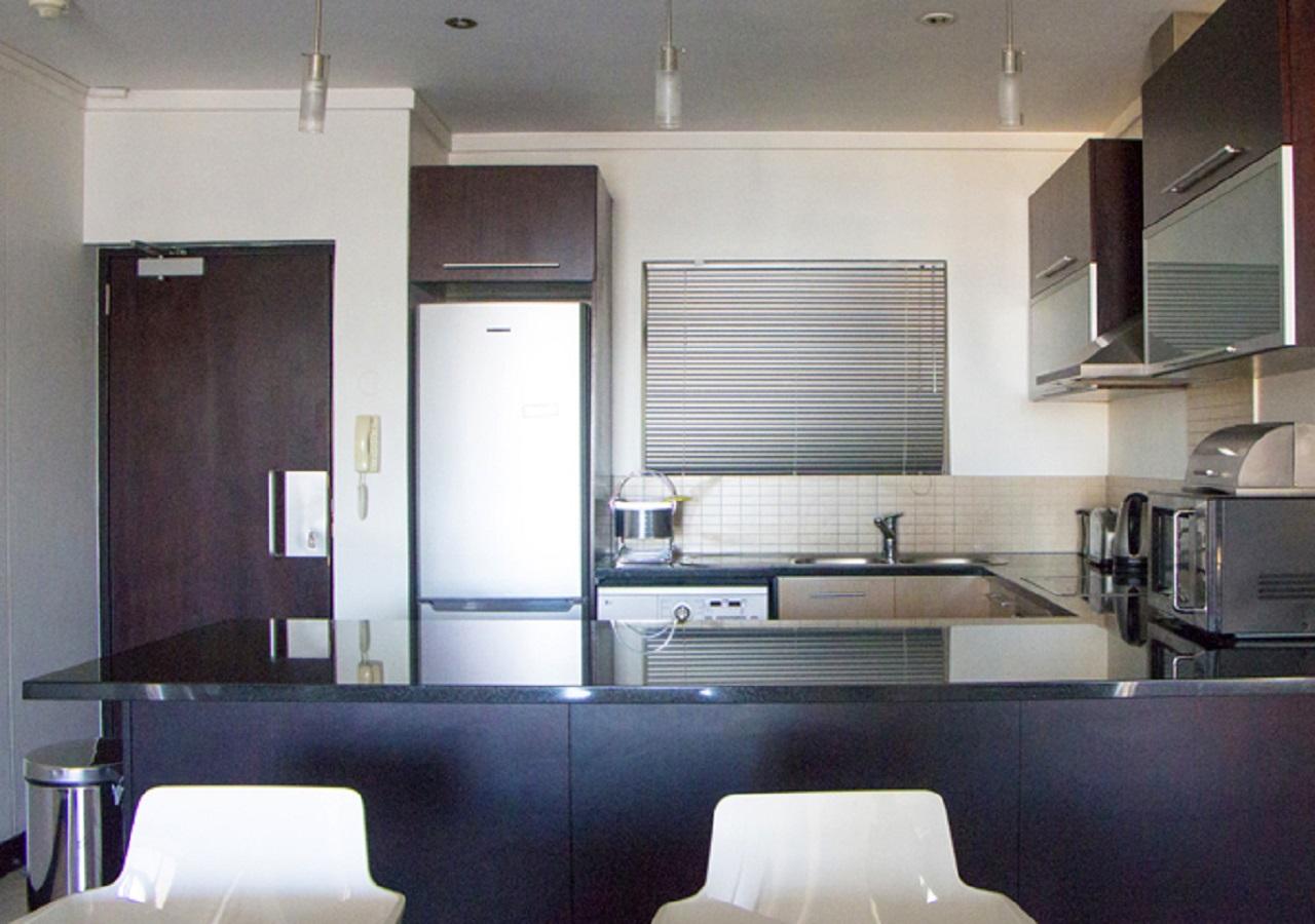 Kitchen in Icon Apartments