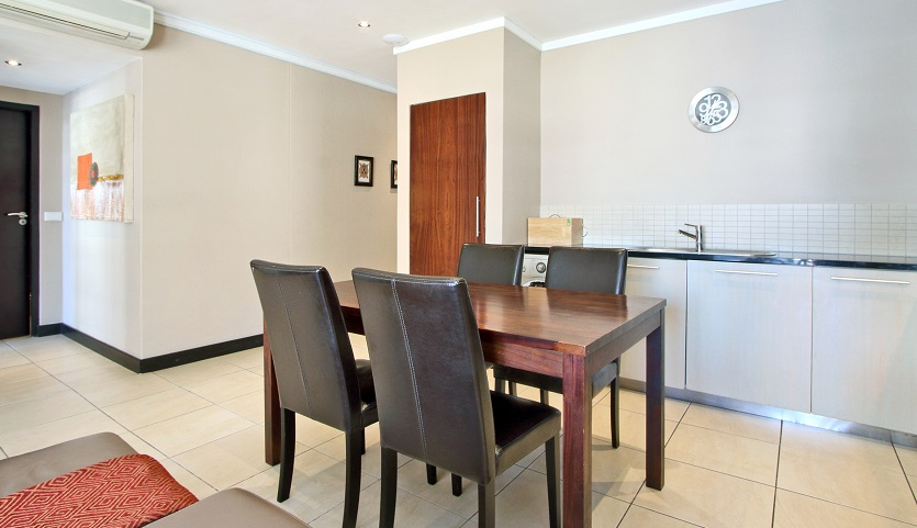 Dining table in Icon Apartments
