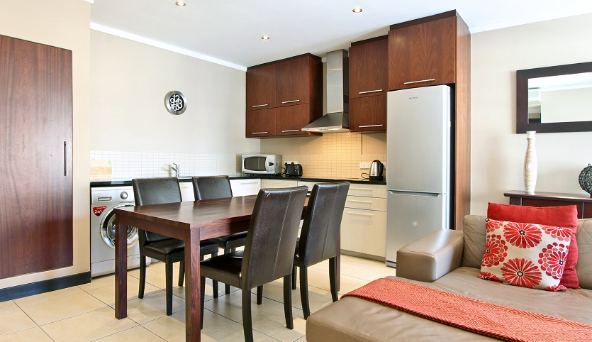 Dining area in Icon Apartments