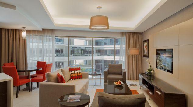 Living area at Majestic Arjaan Apartments, Block 221, Busaiteen