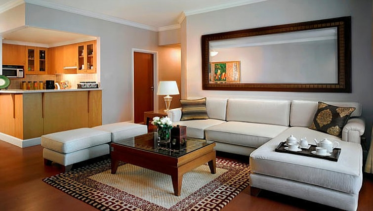 Cosy living area in Marriot Executive Apartments Mayfair - Bangkok