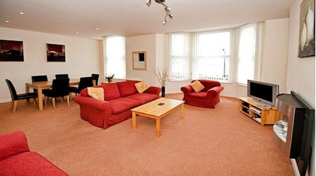 Comfortable living area at Cunard Apartments