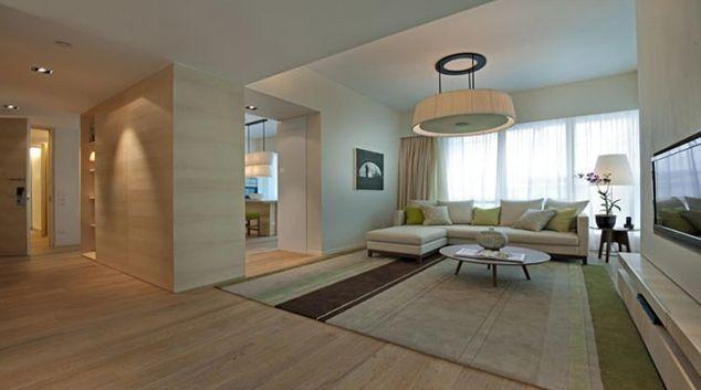 Spacious living area in Lanson Place Bukit Ceylon Serviced Residences